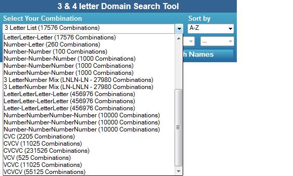 Letter Com Domains