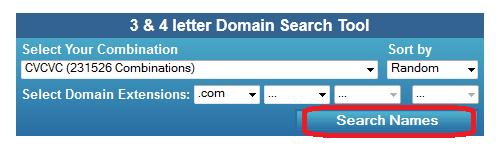 search brandable domain names