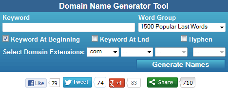 Use Domain Name Generator To Find Domain Names - Namestall com