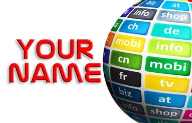 your name as domain name